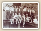 Jack's Grandfather (Mom's Dad) grew up in Davidson and worked at the cotton mill when he was young. He is the only boy on the back row without a hat. Frank B. Robbins was born in 1890. ~1908