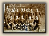 Uncle Ralph Hall with his fraternity at Davidson College around 1928.He is in the back row, fourth from right.